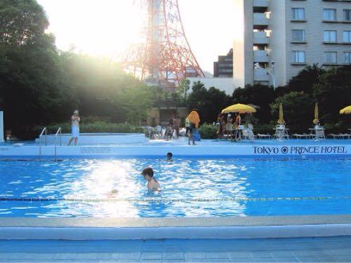 東京プリンスホテル ナイトプール